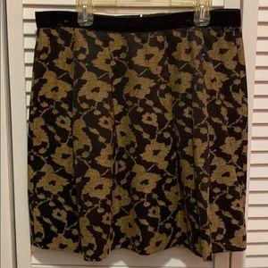 LOFT Elegant Black and Gold Skirt